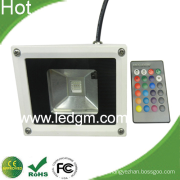 10W RGB LED Flood Light with IR Remote Controller