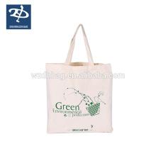 100% beau sac de cadeau de toile de coton de base de pliage