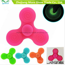 Wholesale Sillicone Glow in Dark Fidget Hand Spinner Adhd EDC Focus Anxiety Toy