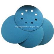 Cloth base hook and loop sanding disc blue