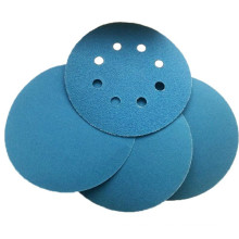 Cloth base hook and loop sanding disc blue