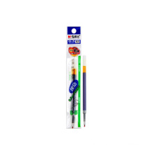 Stationery smooth gel pen blue 0.5mm push writing pen refill