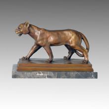Sculpture en bronze animal Lion sculpture Statue en laiton Deco Tpal-089