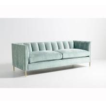 Modern Sofa Small Space Comfortable Channel Fresh Mint Green Living Room Sofa