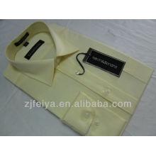 2013 nuevos hombres del algodón de la manera visten la camisa del negocio camisas del ajuste delgado para los hombres manga larga FYST03-L