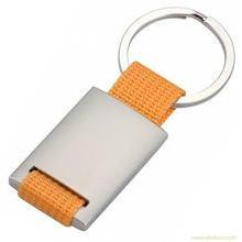 Corrente chave de matéria têxtil, anel chave do metal (GZHY-KA-005)