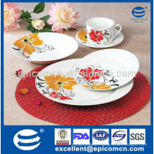 New arrival factorywhole 20pcs porcelain dinnerware with classic decoration