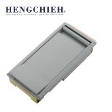 Serrure d'armoire électrique extérieure revêtue de poudre d'alliage d'aluminium