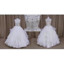 Vestido de casamento frisado fabuloso de Unusal