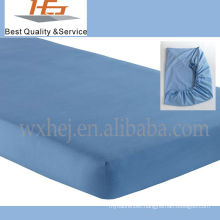 Cotton Percale Solid Color Baby Crib Fitted Sheet