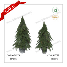 H60-87cm Fournitures de décoration de Noël en plein air Mini arbre de noël en pot