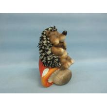 Artisanat en céramique en forme de Hérisson à champignons (LOE2538-C13)