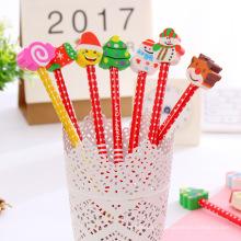Crayons en bois naturels mignons et bon marché avec gomme pour les enfants