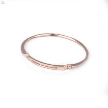 Personalized Initials Bangle Stamped Jewelry Engraved Inspirational Message Bracelets