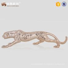 Décoration artistique et artisanale Statue en polyresine léopard pour ornements de jardin