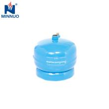 Cilindro de gas del lpg del mini tamaño 0.5kg, botella, tanque de propano
