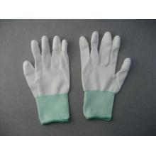 Gant enduit de 3/4 de polyester / nylon gris de 13G (5532)