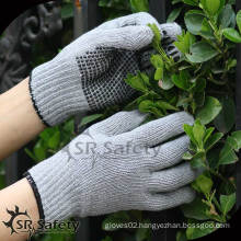 SRSAFETY cheapest dotted hand gloves/working glove/cotton gloves