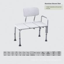 Silla de ducha con brazo fijo con asiento PE