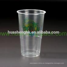 Los fabricantes chinos aduana imprimieron la taza plástica disponible de alta calidad 11oz / 320ml PP del logotipo