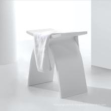 free sample white composite acrylic shower stool for bathroom  Matte Gloss Acrylic Stool