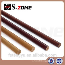 Contemporary Decorative Wood Curtain Rod Wood Curtain Poles Set