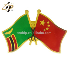 Personalizado barato macio esmalte ouro Irã negócios país nacional de metal bandeira de lapela pinos
