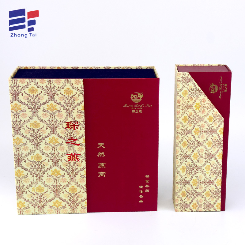 Foldable cardboard paper tea packaging gift box
