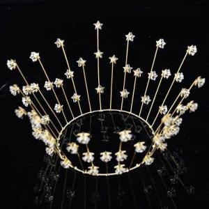 Full Round Birthday Cake Crown With Star Diamonds