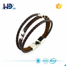 2015 Fashion Braided Ladies Leather Bracelet