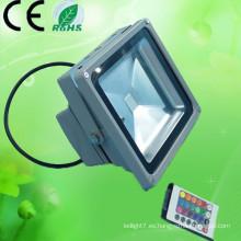 2015 Iluminación al aire libre AC100-240v 50w 20w 30w 10w impermeabilizan la luz de inundación de IP66 RGB LED con el regulador de DMX