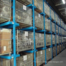 Logistique d'entrepôt industriel exporté Stockage des récipients à mailles métalliques