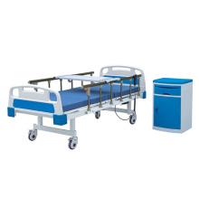 Medical Manual 2 Crank Bed For Hospital With Aluminum Guardrail