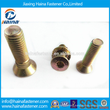 Color Zinc-plated hex Countersunk Head Socket Bolt,Flat Head Bolt