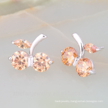Fruit Shape Stud Earring Fashion Jewelry With Grade AAA Quality Crystal Earring