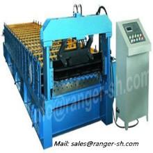 Galvanizado acero corrugado Teja rollo formando equipo fabricante de China