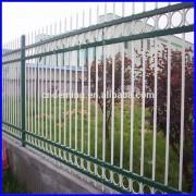 green, wrought iron guardrail, zinc steel guardrail fence