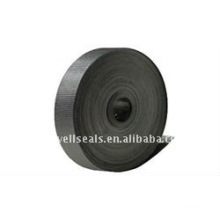 corrugated graphite tape with adhesive coating
