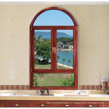 Fenêtre en aluminium à double vitrage de battement de coupure thermique vitrée (FT-W80)