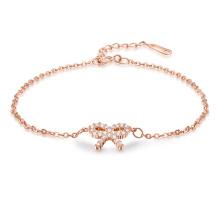 Moda nupcial de cristal de oro plateado collar pendiente conjunto de joyas pulsera