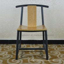 Antique Metal Wooden Dining Chair for Home Restaurant (SP-MC065)