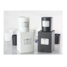 Aceite esencial vela de cera de soja en caja de regalo.