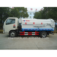 Dongfeng 4000L bin lifter garbage truck, 4x2 compactor garbage truck