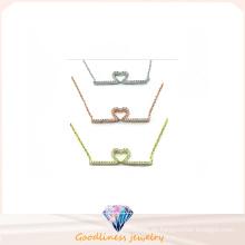 Frau Modeschmuck AAA CZ 925 Silber Halskette (N6642)