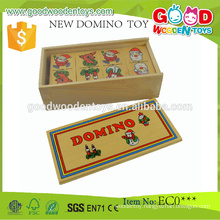 Promotional Christmas Gifts Made-in-China Kids Educational Toy Wooden Dominos Set
