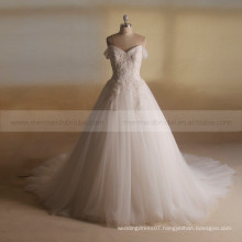 Amiable Sweet Heart Cap Sleeve Exquisite Bling Beads Shape On Bodice Ball Party Wedding Gown