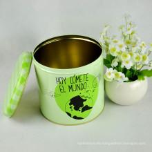 Caja de la lata de la galleta redonda / envases del estaño / cajas de la lata para las galletas