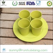 Элегантный набор чашек из бамбукового волокна