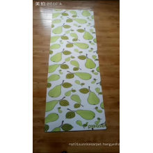 New premium suede Microfiber Yoga Mat with Your Own Designs Sublimation Printed rubber mat custom printed yoga mat