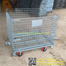 Wire Mesh Container Storage Box Roll Container